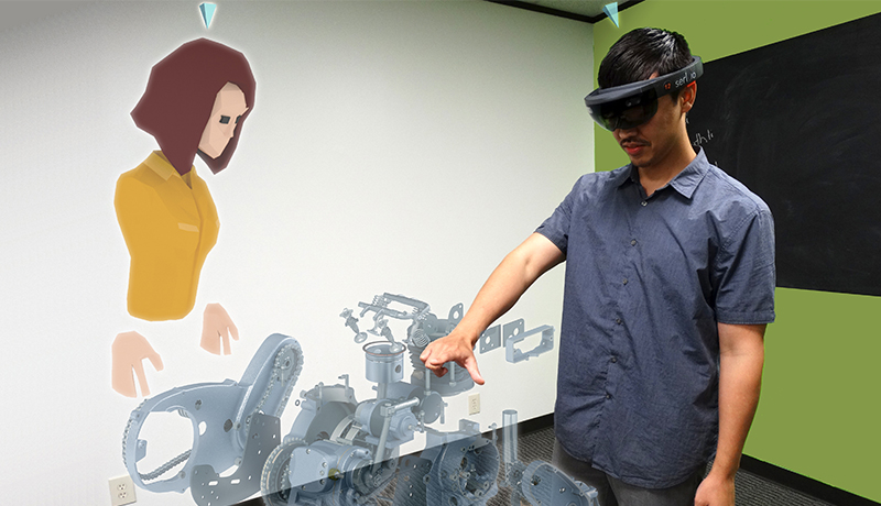 collaborative work with mixed reality hololens